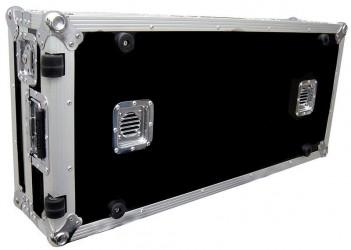 Flight case ventilé régie à plat pour lecteur CD et Mixeur Road Ready RRCDJCD12W