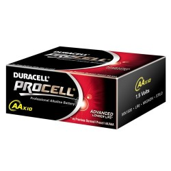 PACK 10 X PILES 1.5 VOLTS LR06 AA  Duracell Procell