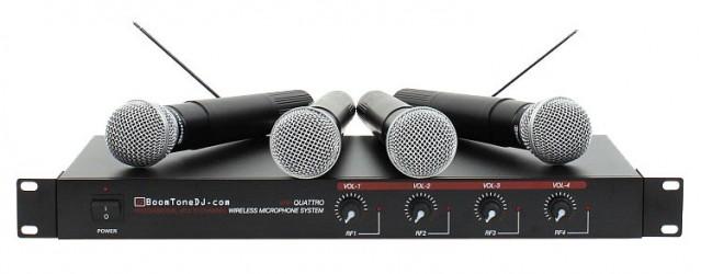 Micros sans fil BoomToneDJ VHF QUATTRO M