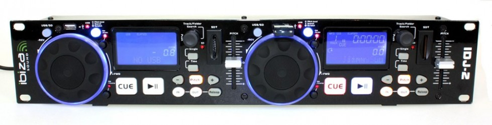 Double controleur USB/SD Ibiza IDJ2