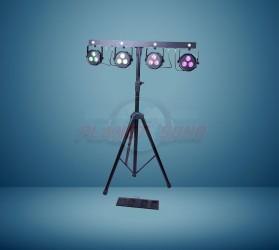 Pack 4 projecteurs à leds avec pédalier sans fil + strobe CloudNight Parset108