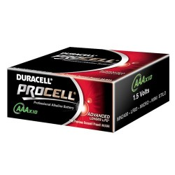 PACK 10 X PILES 1.5 VOLTS LR03 AAA 	 Duracell Procell
