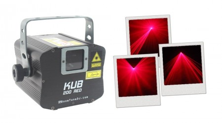 Laser Rouge BoomToneDJ KUB 200 RED