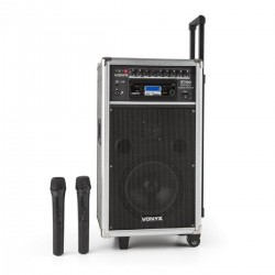 Sono portable Skytec ST100 MK2 BT/CD/MP + 2x Micros sans fil